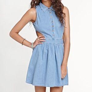 Kirra Cutout Denim House Dress
